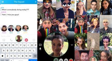Snapchat Görüntülü Grup Görüşmesi Özelliği